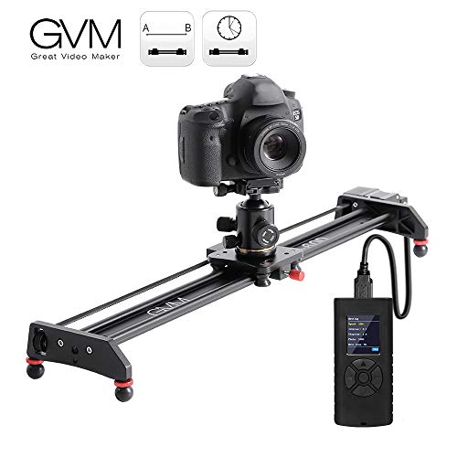 GVM Motorized Camera Slider Video Rail Track Dolly with Controller Video Shooting Time-Lapse Aluminum Alloy Video Slider for Interview Film Photography