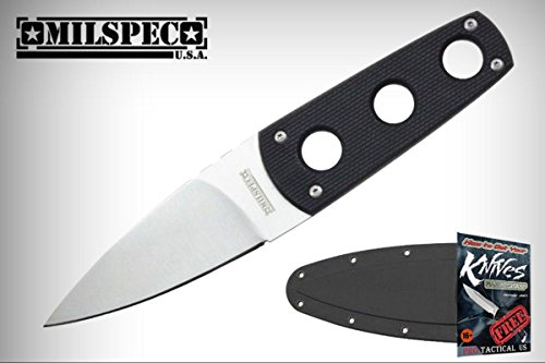 Black Combat Milspec Boot (Tactical Elite Knife Milspec Silver Blade Black Combat Boot Elite Knife Slim Low Profile + free eBook by ProTactical'US)