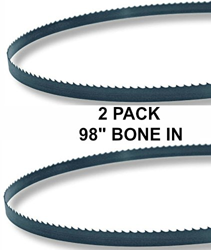 98x5/8x3TPI - 2 Pack Bone In Bandsaw Blades- Meat Cutting Fits Hobart 5012, (Meat Cutting Blade)