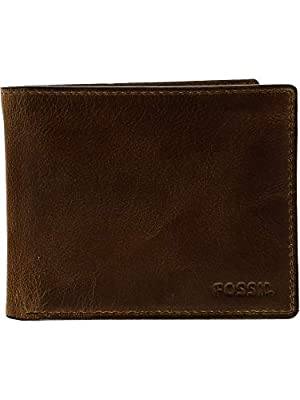 Fossil Men's Ryan Leather RFID Blocking Passcase Wallet