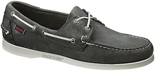 Sebago Docksides, Náuticos Para Hombre Gris (Smoke Waxy Leather)