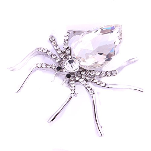 Enamel Spider Charm (TraveT Enamel Crystal Rhinestone Halloween Crystal Spider Brooch Pin)