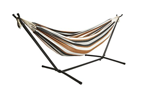 BACKYARD EXPRESSIONS PATIO · HOME · GARDEN 914921 Portable Stand-Gift: Adults, Kids, Campers-All Say They Love It Double Person Hammock Combo w/Carry Bag, 106