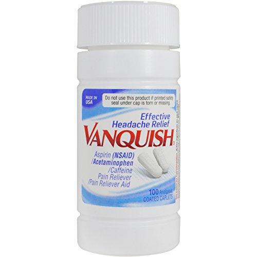 Vanquish Headache Relief, Acetaminophen, Aspirin, Caffeine, 100 Caplets ()