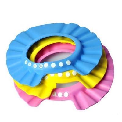 2700lon Safe bébé Shampooing Douche protection bébé enfant Souple Cap Bonnet de douche pour bébé enfants Enfants (Bleu)