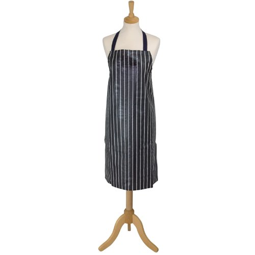 Pvc Coated Aprons (Rushbrookes PVC Coated Printed Navy Apron)