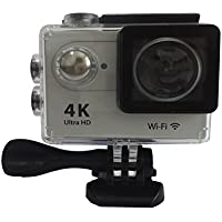 4K Ultra HD Action Camera Wifi 1080P 60fps 16MP 2.0 inch Waterproof Sport Video Camera Car Helmet Camcorder MDV9000R(silver)