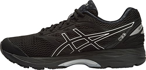 ASICS Mens Gel-Cumulus 18 Running Shoe, Black/Silver/Black, 9 D(M) - 9 Cumulus Shoe Gel
