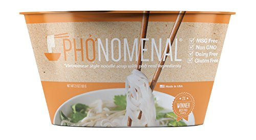 Pho ga' Vietnamese Chicken Noodle Soup, Non GMO, MSG Free, 6 Bowl Pack ()