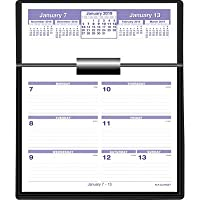 Calendario y base de escritorio Flip-A-Week de AT-A-GLANCE, 5 x 8 pulgadas, negro, 2013 (SW700X-00)