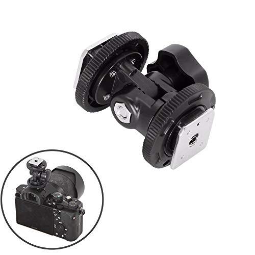 Mekingstudio Dual Hot Shoe Mount Adapter Holder Bracket with 1/4