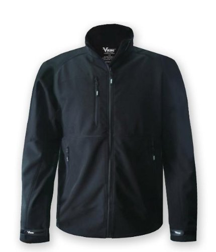 Microfleece Jacket Liner - Viking Men's Soft Shell Jacket, Black, XXX-Large