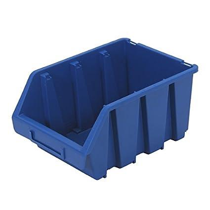 Sichtlagerkasten Ergobox4 blau 25 Stü ck Lagerboxen Stapelboxen Stapelkisten Sortierbox 4U-Onlinehandel