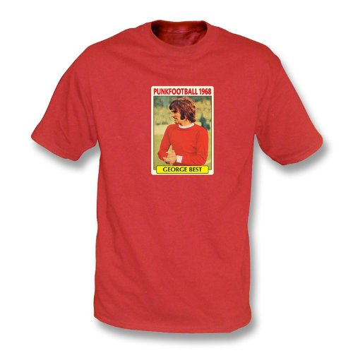 Blanc de T-shirt rouge uni par homme de George Best 1968 Xx-Grand ... 601583244a26