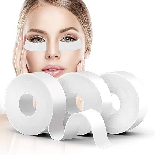 "Lash Tape, Akissos 3 Rolls Medical Elastic Foam Tape Eyelash Extension Supplies Lash Pads Under Eye Patches Lint Free Hypoallergenic No Latex - 1"" X 5.5 Yard"