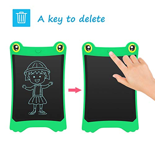 NEWYES 8.5 Inch LCD Writing Tablet Updated Frog Pad Children Electronic Doodle Board Jot Digital E-Writer Kids Scribble Toy with Lock Function Green by NEWYES (Image #3)