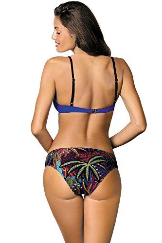 Marko Samantha M-407 Traje De Bano De Dos Piezas Bikini Para Mujeres Copas Con Relleno - Hecho En La UE Azul