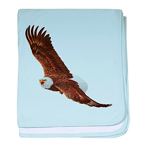 - Royal Lion Baby Blanket Bald Eagle Flying - Sky Blue