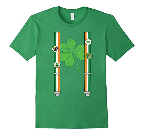 Irish Flag Suspenders St Patricks Day green T-Shirt