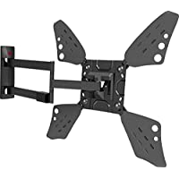 Barkan 3400L.B Full Motion Curved/Flat TV Wall Mount for 32 -70 Screens up to 88 lbs. Extremely Long Metallic Black