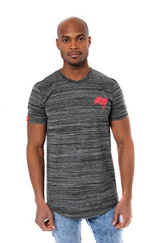 NFL Tampa Bay Buccaneers Men's T-Shirt Active Basic Space Dye Tee Shirt, Small, Black