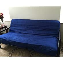 Octorose ® Full Size Zipper Bonded Classic Soft Micro Suede Futon Mattress Sofa Bed Cover (Royalblue)