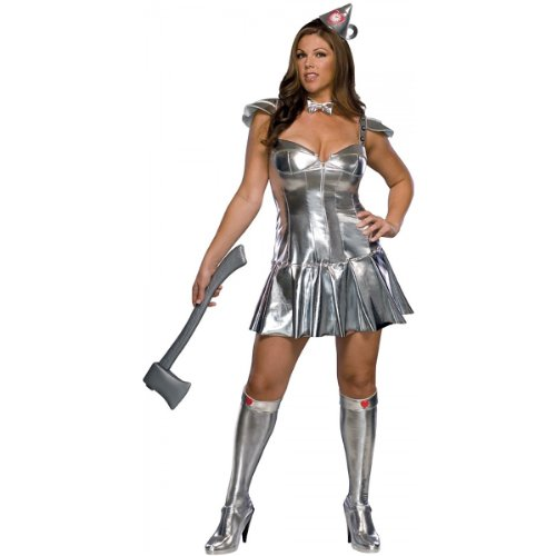 Wizard of Oz Full Figure Tin Woman Costume, Silver