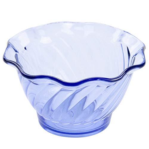 TableTop King DD-50-BL Dessert Time 5 oz. Transparent Blue 3 3/4