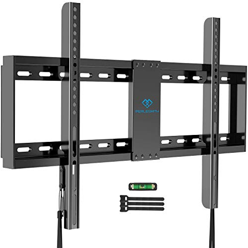 """PERLESMITH Fixed TV Wall Mount Bracket Low Profile for 32-82 inch LED, LCD,and OLED Flat Screen TVs – Fits 16""""- 24"""" Wood…"""
