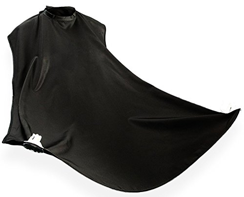 Beard Bib for Trimming and Shaving, Beard Apron,beard catcher,Hair Clippings Cape For Men,Gifts for Men,Gifts for Dad (Black) by Angel Lover