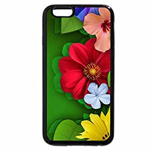 iPhone 6S / iPhone 6 Case (Black) Flower Collage!