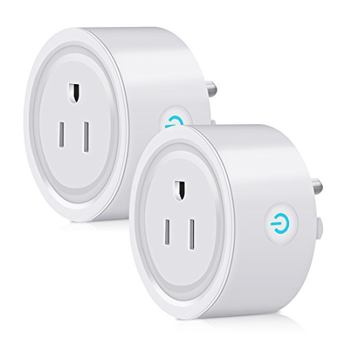 Price comparison product image WiFi Smart Plug 2 Pack caloics Mini Wireless Plug Outlet Remote Voice Control Intelligent Socket with Timing Function Home Smart Switch Plug Compatible with Alexa from Anywhere Anytime (2-Pack)