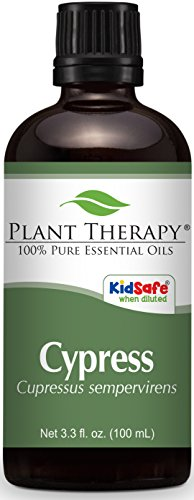 Plant Therapy Cypress Essential Oil 100 mL 100% Pure, Undiluted, Therapeutic (Cypress Tea Tree Deodorant)