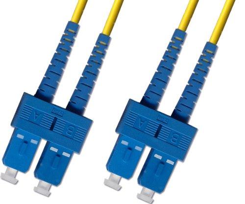(100 Meter OS2 Singlemode Duplex Fiber Optic Cable (9/125) - SC to SC - Yellow)
