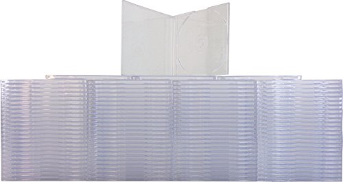 (100) Slimline Import CD-5 Jewel Boxes - Holds J Card Inserts, Used for Import CD Singles CDBS78