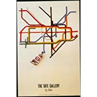 London Underground - The Tate Gallery By Tube 1987 - LU126 Satin Paper A3 Size