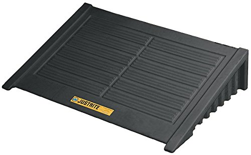 JUSTRITE Manufacturing 28688 Black Recycled Polyethylene Ramp for 4 Drum Square EcoPolyBlend Spill Control Pallet, 1000 lb. Load Bearing Capacity, 49