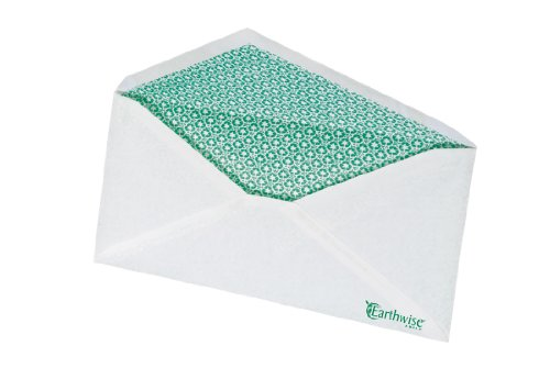 - Ampad EnviroTec, #10 Envelope, V-Flap, Security Tint, 20 Pound Paper, White, 500 Envelopes (19385)