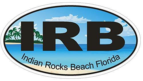 (Indian Rocks Beach Florida Oval Vinyl Bumper Sticker Decal D1211 5