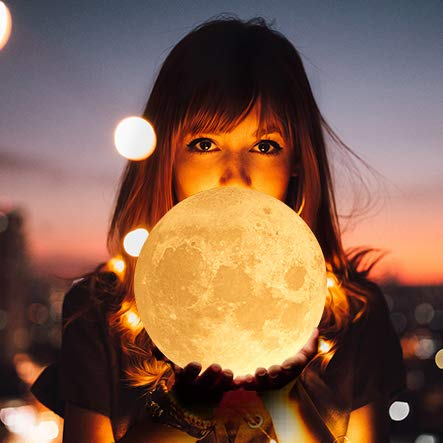 Engraved 3D Moon Lamp for Daughter,Personalized 5.9 Inch 3D Printing Moon Light Gift for Daughter Son Graduation Gift from Mom, from Dad (for Wife) by K KENON (Image #3)