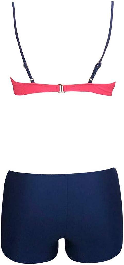 ZYUEER Due Pezzi Mare Push Up Bikiniset Costume Swimwear Balneari BrasilianCompleto Bikini da Donna A Due Pezzi con Balza in Vita