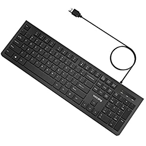 victsing wired keyboard slim