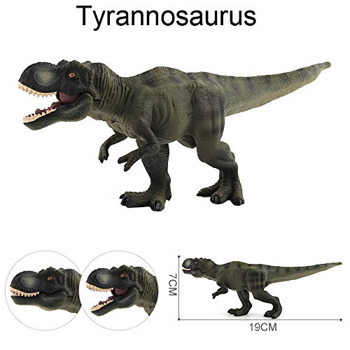 Gbell Realistic Dinosaur Model Toy, Kids Simulated Tyrannosaurus Rex Dino Model, Dinosaur Educational Collector Toys Birthday Gifts for Boys Girls 3-14 Year olds]()