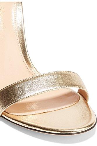 Il Caviglia Ybeauty Cinturino 10 Da Alla Dimensioni Cinghietti Vestito Donna Toe Tacco Open Per Promenade Fibbia Del Centimetri Scarpe Sandali Brevetto Partito Alto D'oro ppXAwU