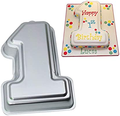 Excellent Amazon Com Number 1 Cake Pan Kids 3D Birthday Cake Pan Number 1 Personalised Birthday Cards Paralily Jamesorg