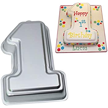 Number 1 Cake Pan- Kids 3D Birthday Cake Pan Number Cake Mold- Wedding Anniversary Baby Shower Baking Tin