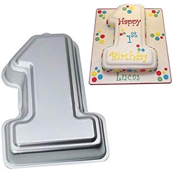Number 1 Cake Pan Kids 3D Birthday Mold Wedding Anniversary Baby Shower Baking Tin