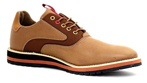 neu Herren Freizeit Smart Schuhe Schnürschuhe Förmlich Arbeit Büro Hochzeit Größe EU Braun