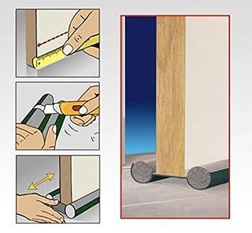 Burlete Puerta Espuma Bajopuerta 95 CM,Bajo Puerta de espuma,Doble rollo aislante (MARRON): Amazon.es: Bricolaje y herramientas