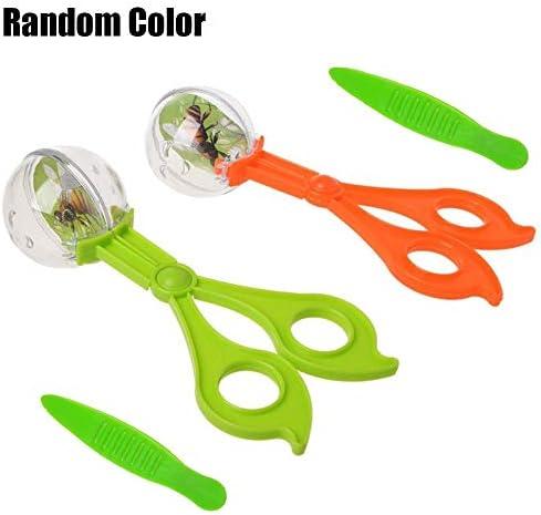 KLSK プラスチック防虫ピンセットはさみピンセット実用的なおもちゃのツールの子供の贈り物 (色 : Random Color)